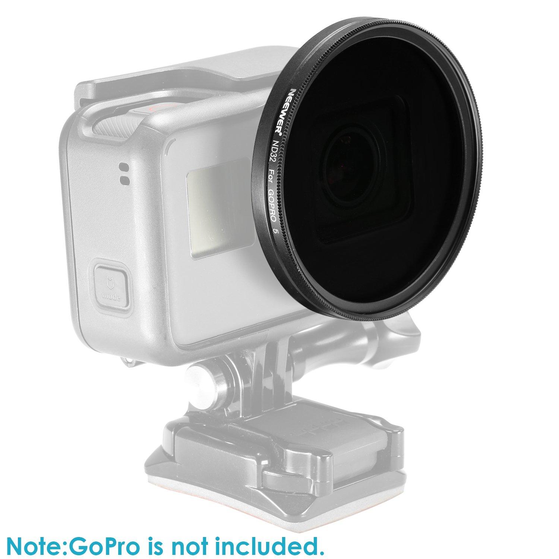 ND32 incluye ND8 ND16 Neewer 10090443 Kit de filtros para GoPro Hero 5//Hero 6 filtros de lente de revestimiento m/últiple con marco 3 Tapas de Las Lentes
