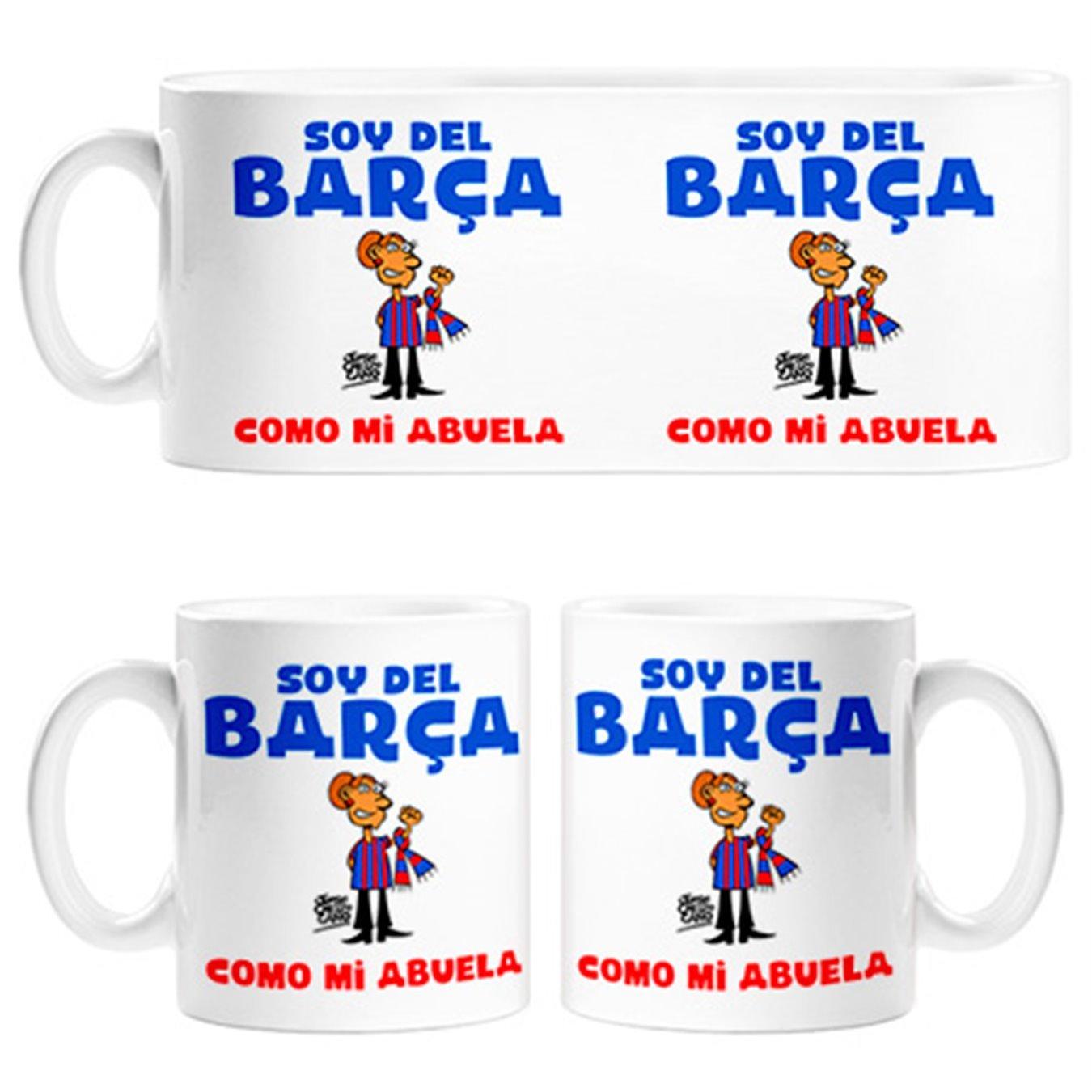 Taza soy del Barça como mi abuela Jorge Crespo Cano - Cerámica: Amazon.es: Hogar