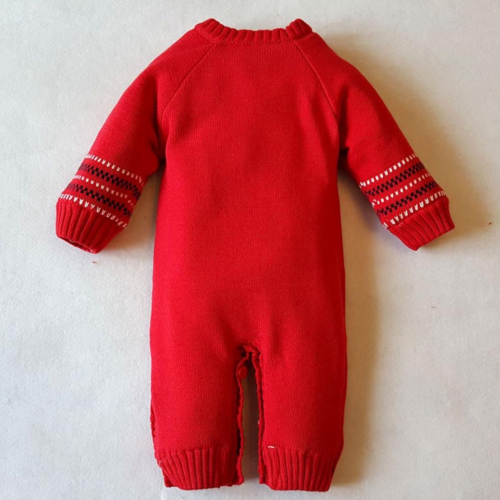 DIGOOD Christmas Baby Boys Girls Knitted Snowman Sweater,for 0-18 Months,Winter Keep Warm Thick Clothes