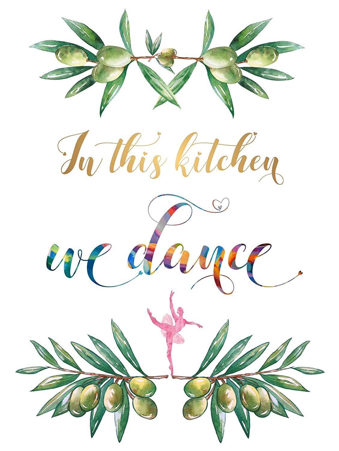 Amazon Com In This Kitchen We Dance Poster A3 For Wall Art Work