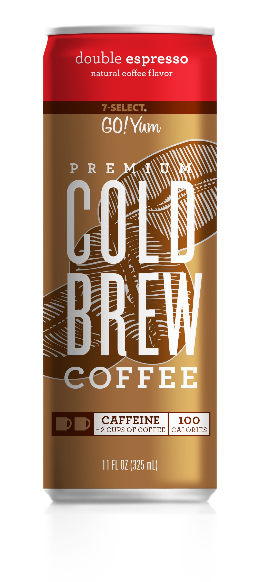 7-Select Premium Cold Brew Coffee-Double Espresso, 11 Ounce Cans (12 Pack)