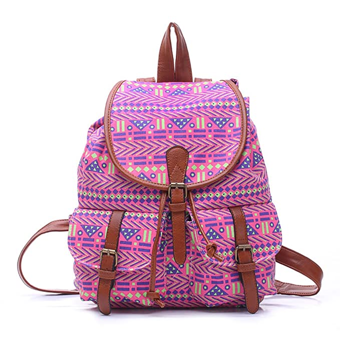 64b3087d78 Yonger Retro Book Bag Backpack Travel Rucksack Knakpack Student Schoolbag