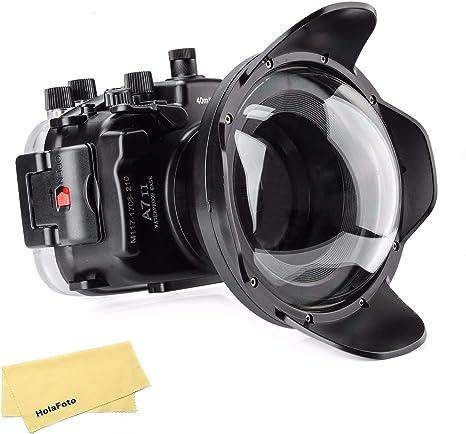 Meikon - Carcasa para cámara de Fotos submarina con Puerto cúpula ...