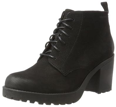 Womens Vagabond Grace Winter Black Fashion Festival Block Heel Boots