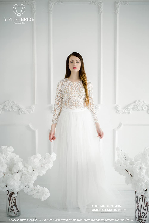 dd106e05ca1a30 Amazon.com  Alice Lux Lace Top Wedding