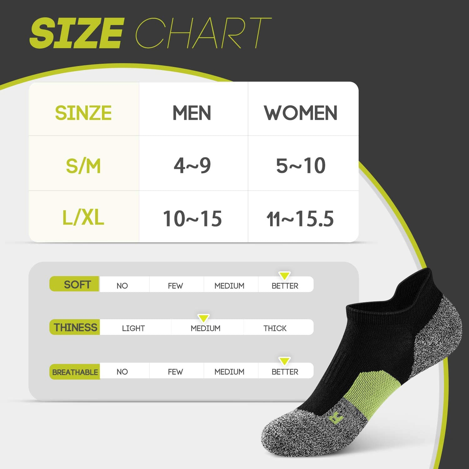 6 Pairs No Show Sports Cushion Socks for Men and Women HETH Low Cut Running Athletic Socks