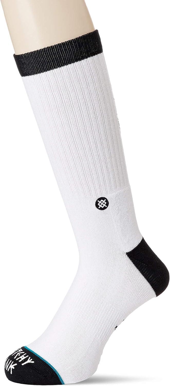 Stance Mens Skull Palm Socks White Black L New