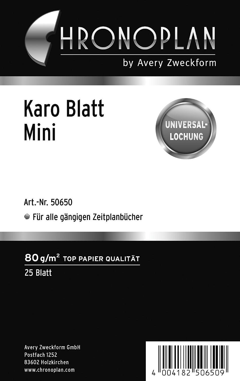 Chronoplan 50304 Formulare Karierte Bl/ätter A5 wei/ß 50 Blatt