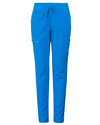 29d82ce6983 MG Superflex Women's Stretch Activewear Scrub Pant Tapered Leg Jogger (XS,  Aster Blue)