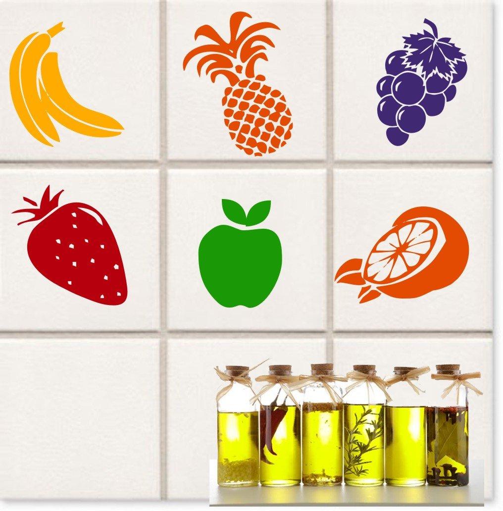 12 Kitchen Stickers Fruit Design Approx. 10 cm each / Banana ...