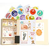 Pearly Tale Baby Memory Book Kit – 73 Page Baby Journal with Baby Album Pages, Keepsake Box, Handprint Kit and Baby Milestone
