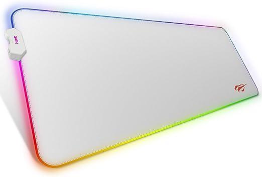 havit Alfombrilla de Raton Gaming RGB 800 * 300 * 4 mm Teclado extendido Extra Grande para Escritorio con Base de Goma Antideslizante para Gamers, PC ...