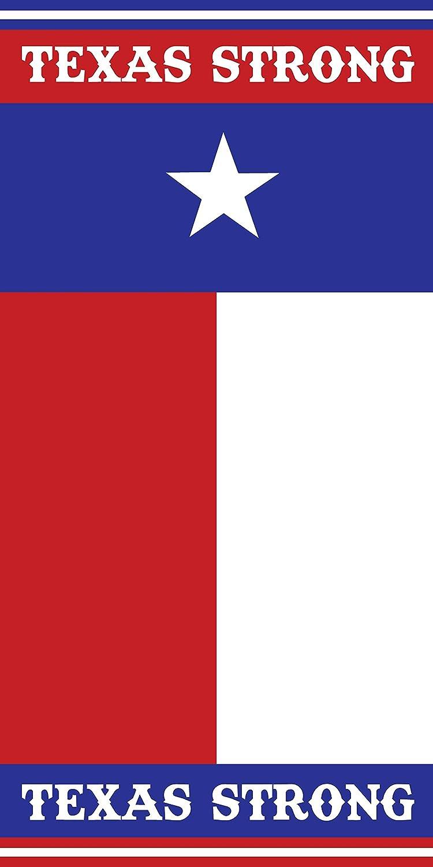 Texas Strong Flag 30x60 Cotton Velour Beach Towel