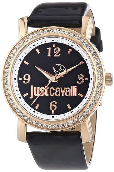 Just Cavalli r7251103507 R7251103507 - Reloj para mujeres, correa de cuero color negro