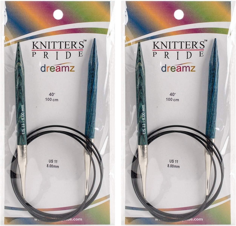 24 Knitters Pride 11//8mm Dreamz Fixed Circular Needles