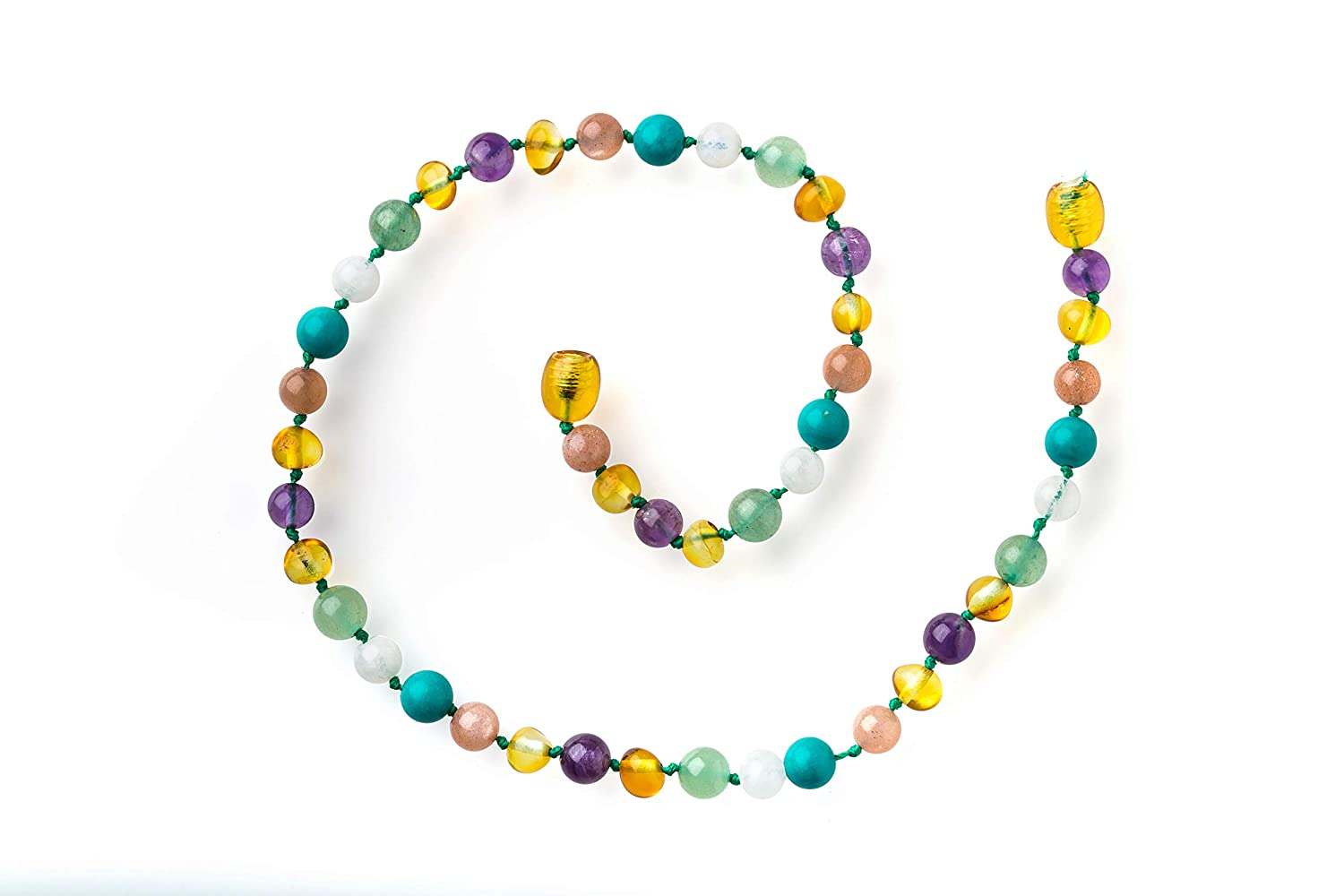 Yellow Love 13 Inch Necklace with Gemstones by Seven Whales
