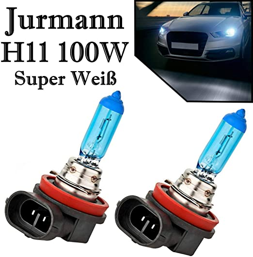 Jurmanntrade Gmbh 2x H11 100w Xenon Style Lampen Für Nebelscheinwerfer Halogen Birne Xenon Look Auto