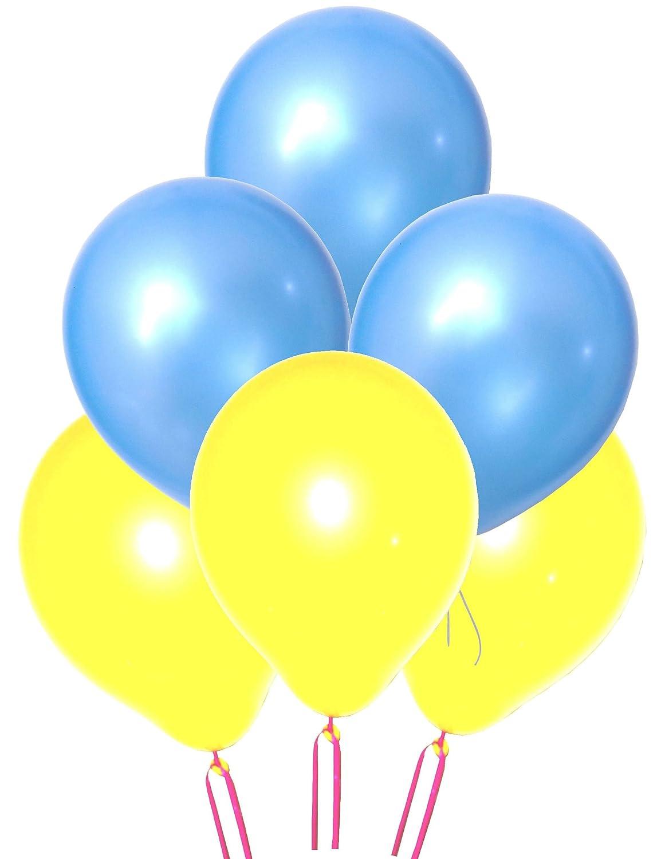 GrandShop 50311 Toy Balloons Metallic Hd Light Blue /& Yellow Pack Of 50