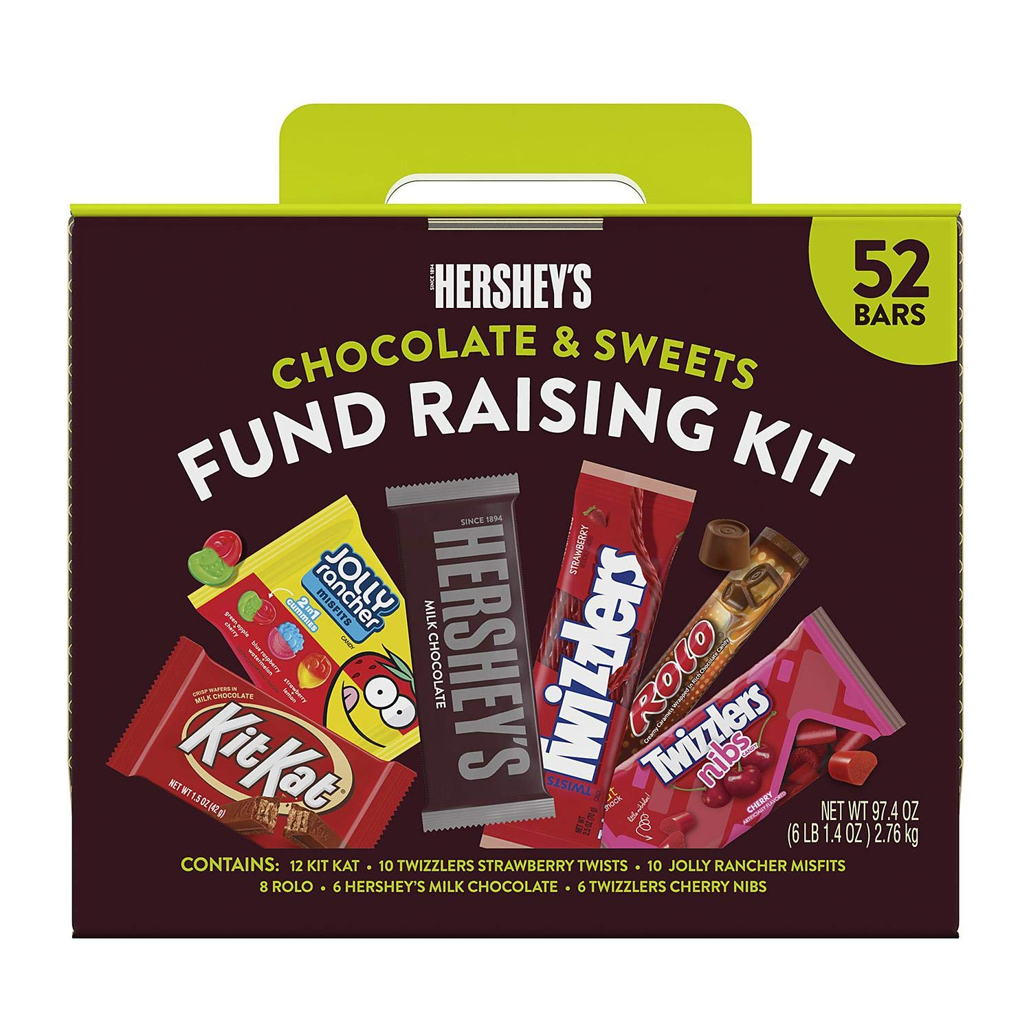 A variety pack of six Hershey's bars Chocolate and Sweets Fundraising Kit (Chocolate and Sweets Fundraising Kit) by HERSHEY'S