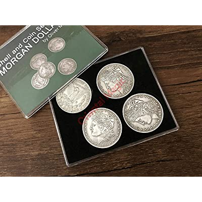 Morgan Dollar Shell and Coin Set Magic Tricks , Party Tricks, Amazing Tricks , Magic Kit,Stage Magic: Toys & Games