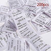 200pcs sacos de Gel de sílice desecante absorbe