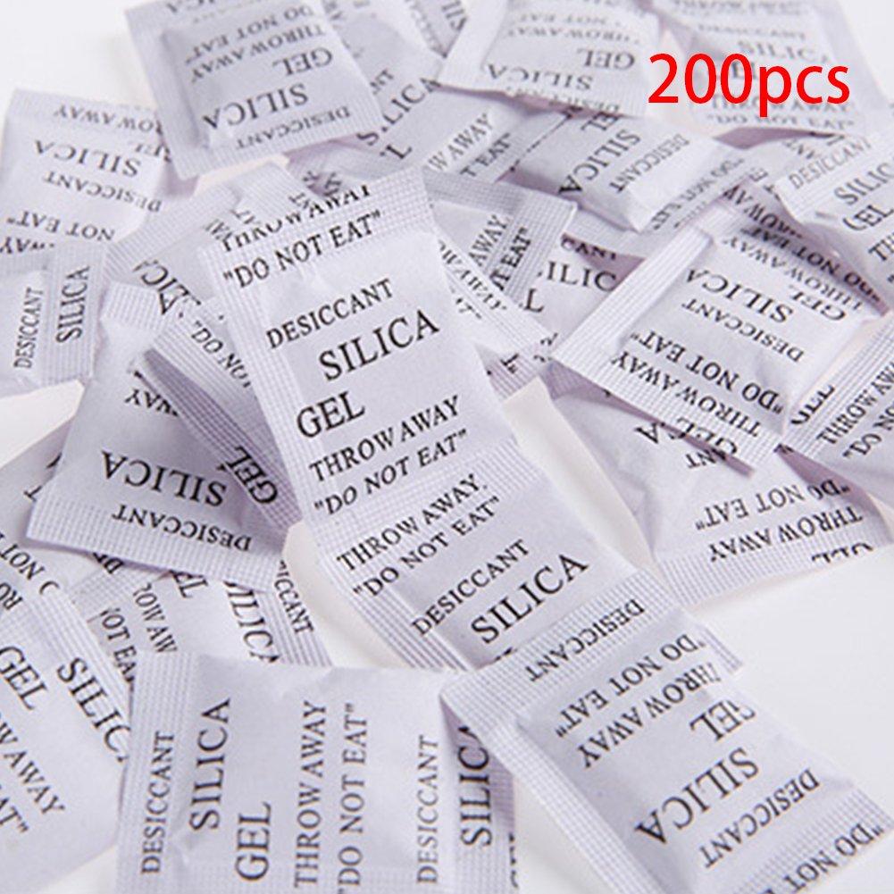 200/pz gel di silice umidit/à Deodorizzazione Disseccante umidit/à multiuso agente Essiccante borse 3 4cm White