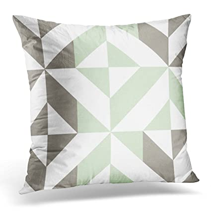 Amazoncom Torass Throw Pillow Cover Gray Abstract Sage Green