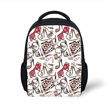 58557641c6b0 Amazon.com: iPrint Kids School Backpack Fashion House Decor,Female ...