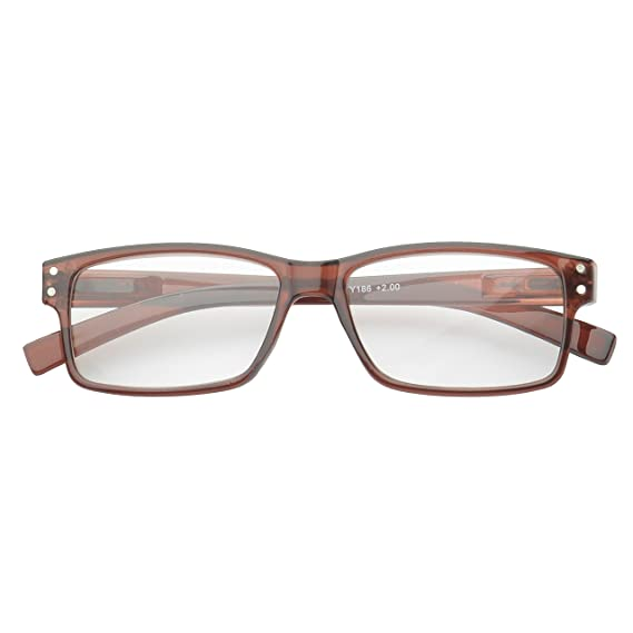 94bf2fb3ff1 Amazon.com  MLC Eyewear  Kirston  Rectangle Reading Glasses +1.50 in Brown   Clothing