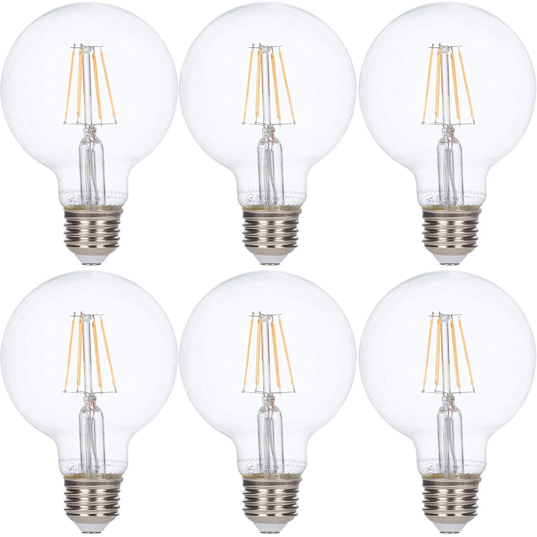 Silver Top Incandescent Light Bulbs 60 Watt 130 Volt Extra Life 4pack A19