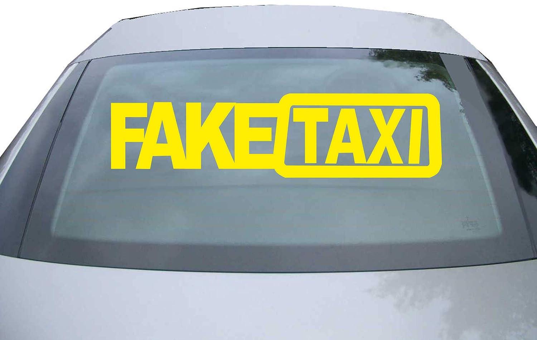 210x53 mm Finestra JINTORA Sticker Viola JDM Adesive da Auto Faketaxi FAKETAXI Taxi fasullo Tuning Auto Adesivo Laptop Die Cut