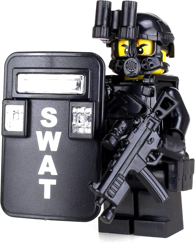 Amazon Com Swat Police Officer Pointman Sku50 Battle Brick Custom Minifigure Toys Games
