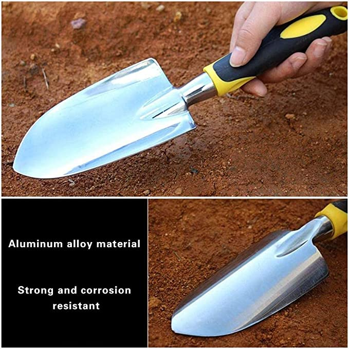Scale Shovel Moving and Smoothing Soil-Gardening Gift Weeding Jiechang Garden/Trowel Hand/Shovel with Soft Rubberized Non-Slip Ergonomic Handle for Planting Transplanting