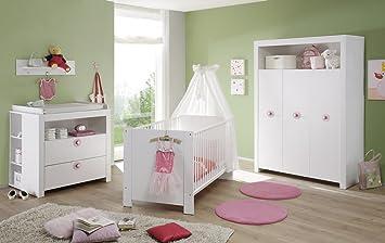 Chambre de bébé Set Olivia Kit complet Blanc 5 pièces avec ...