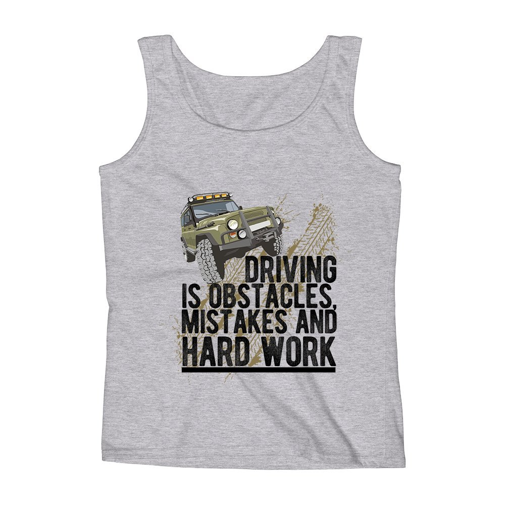 Mad Over Shirts Driving is Obstacles Mistakes and Hardwork Unisex Premium Tank Top