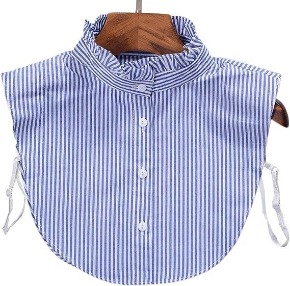 Tinaa - Camisa de Cuello para Mujer con Volantes Falsos cuellos extraíbles 4: Amazon.es: Hogar