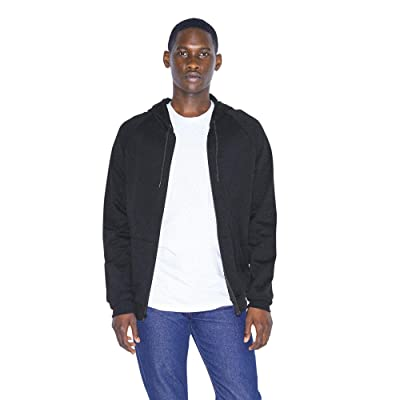 American Apparel Men's California Fleece Long Sleeve Cotton Zip Hoodie at Men's Clothing store