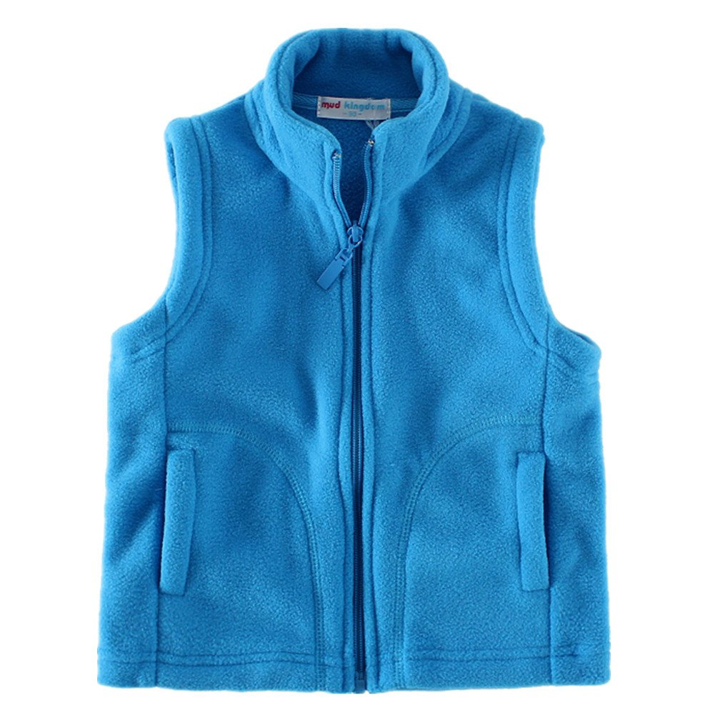 LittleSpring Little Boys' Vests Zipper Pocket Size 2T US Blue