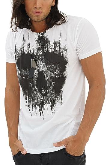trueprodigy Casual Homme Tee Shirt Motif imprimé, Vetements Swag Marque col  Rond (Manche Courte bafe62f1fd56