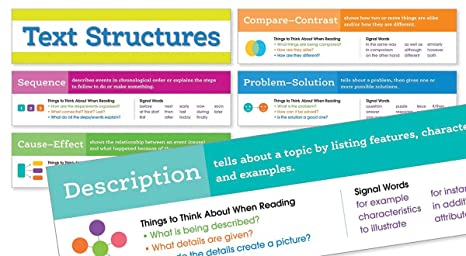 Amazon com : Scholastic Classroom Resources Text Structures Mini