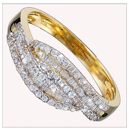 Anillo de oro, diamantes, anillos de boda, veces por gemas de Reino Unido