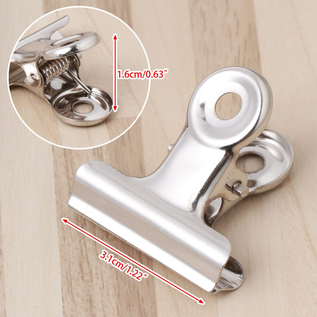 1 Packung mit 10 31 mm Edelstahl-Eisenclip runder Empfangscliphalter YoungerY