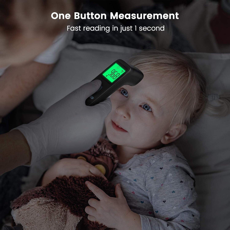 aux enfants et aux b/éb/és convient aux adultes fonction m/émoire Thermom/ètre frontal thermometre Infrarouge sans contact avec alarme de fi/èvre et /écran lcd /à lint/érieur et /à lext/éri