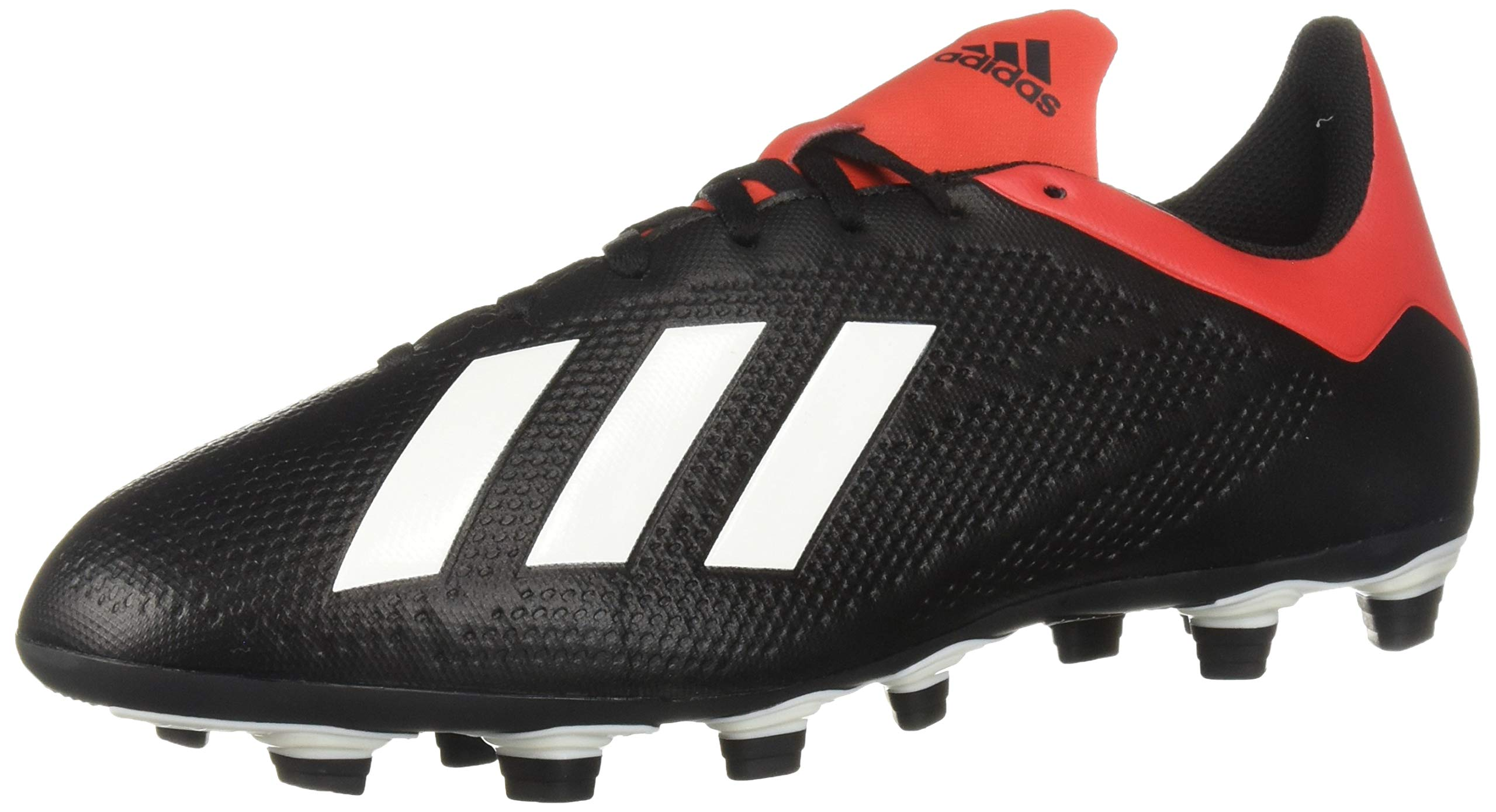 adidas Men's X 18.4 Firm Ground, Black/Off White/Active red 11.5 M US by adidas