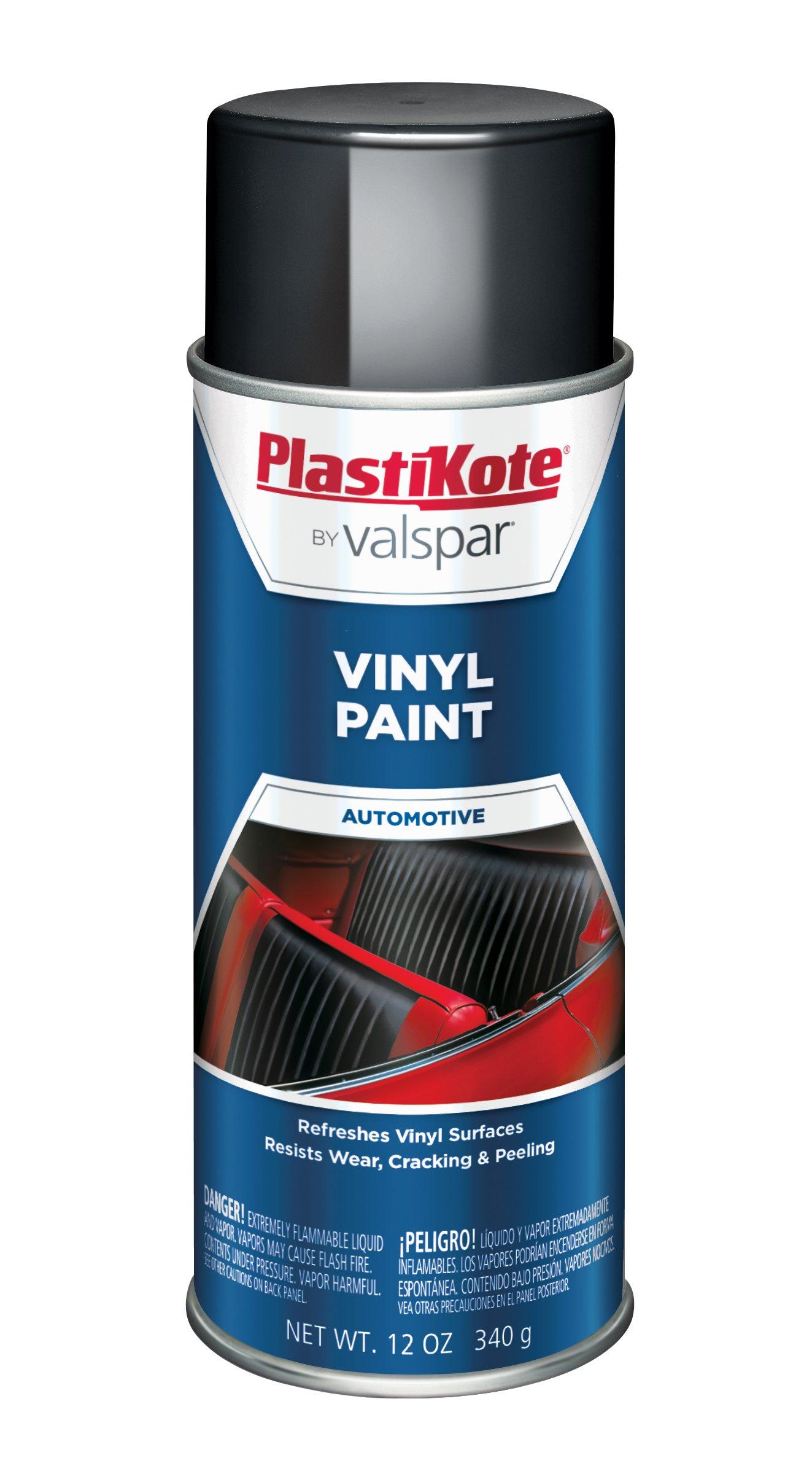 PlastiKote 411 Black Vinyl Paint, 12 oz.