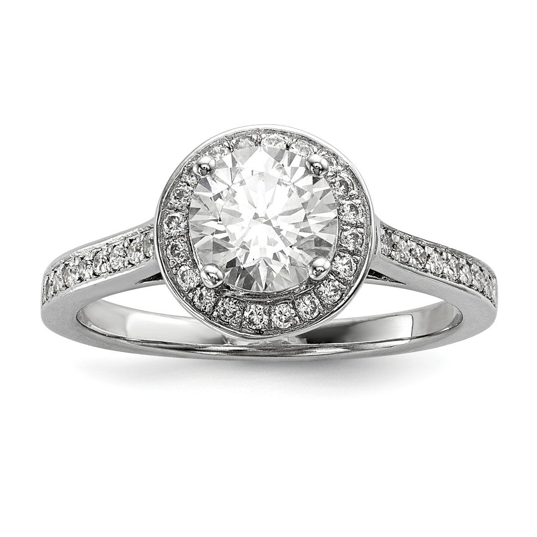 ICE CARATS 925 Sterling Silver Cubic Zirconia Cz Band Ring Size 7.00 Engagement Side Stone Halo Fine Jewelry Ideal Gifts For Women Gift Set From Heart
