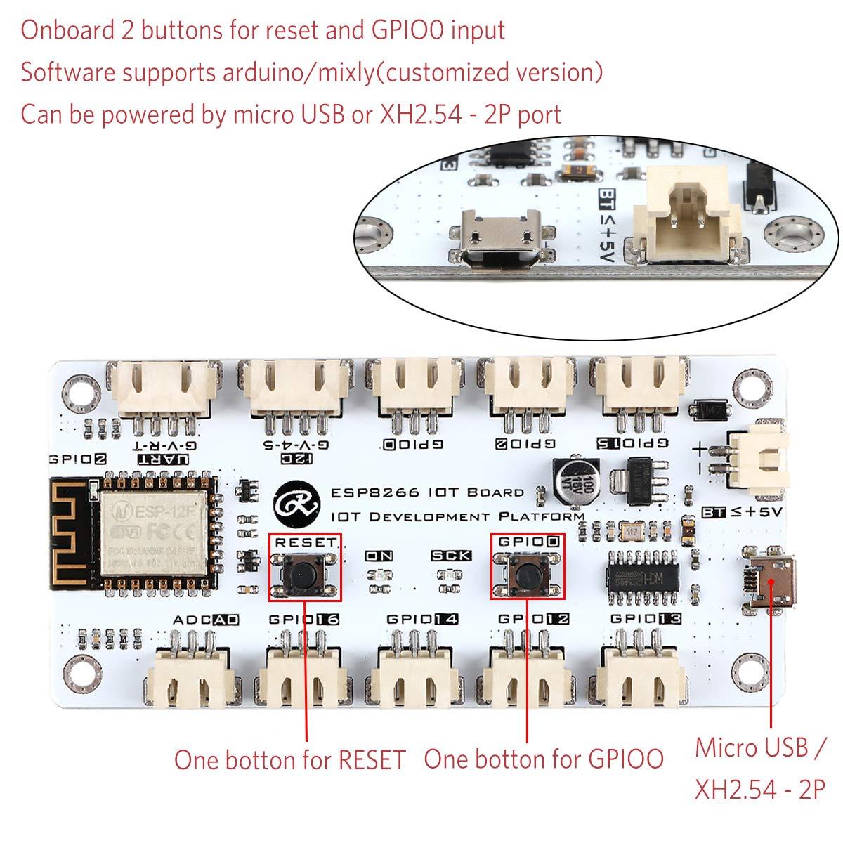 MakerHawk Nodemcu ESP8266 Development Board WiFi Kit with 0.96inch OLED Display Arduino18650 5-12V 500mA for Arduino ESP8266 NodeMCU