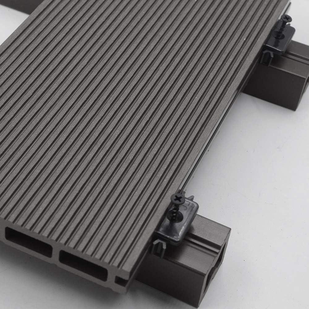 WPC Terrassendiele Dunkelbraun Inkl Unterkonstruktion und komplettem Zubeh/ör Home Deluxe Menge: 1 m/² Drei verschiedene Farben