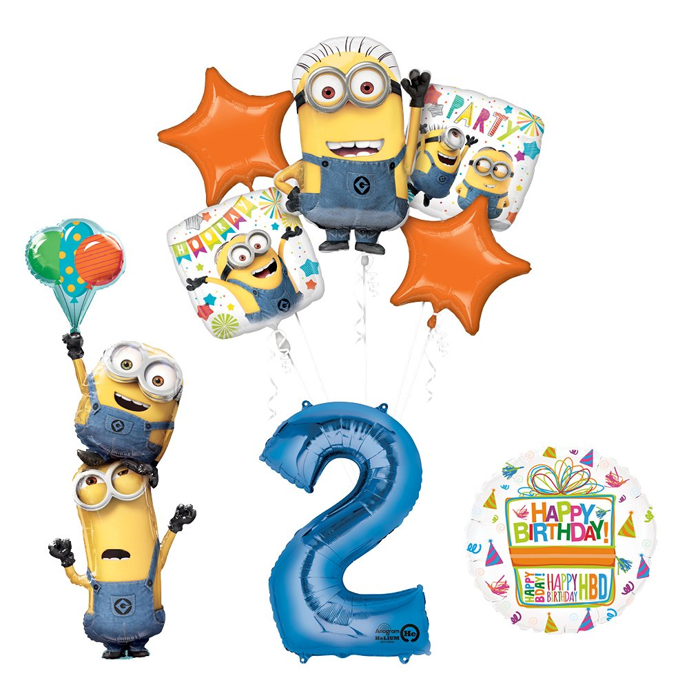 Despicable Me 3 Minions Stacker 2nd Birthday Party Supplies and balloon Decorations