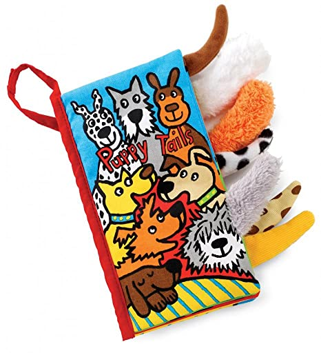 Amazon.com : Jellycat Soft Cloth Books, Silly Tails : Learning And Development Toys : Baby
